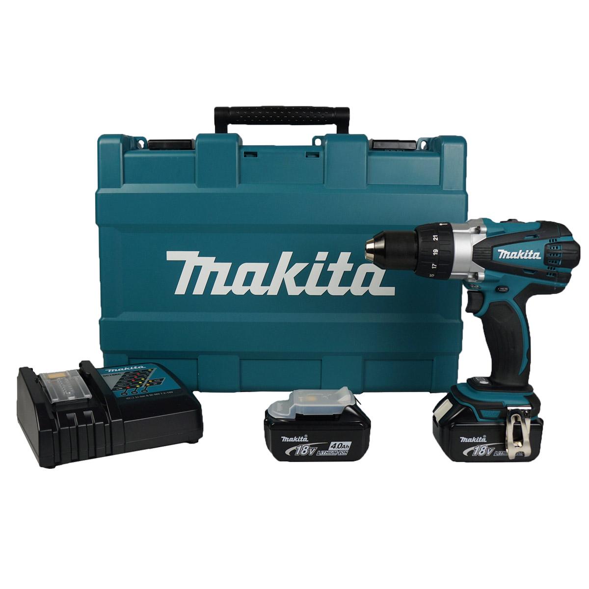 makita dhp458rme 18v cordless li ion compact 2 speed combi. Black Bedroom Furniture Sets. Home Design Ideas