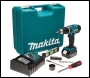 Makita DHP453RFTK Cordless 18V Li-Ion Combi Drill (1 x 3ah Battery) in Case with 101 Piece Accessory Set