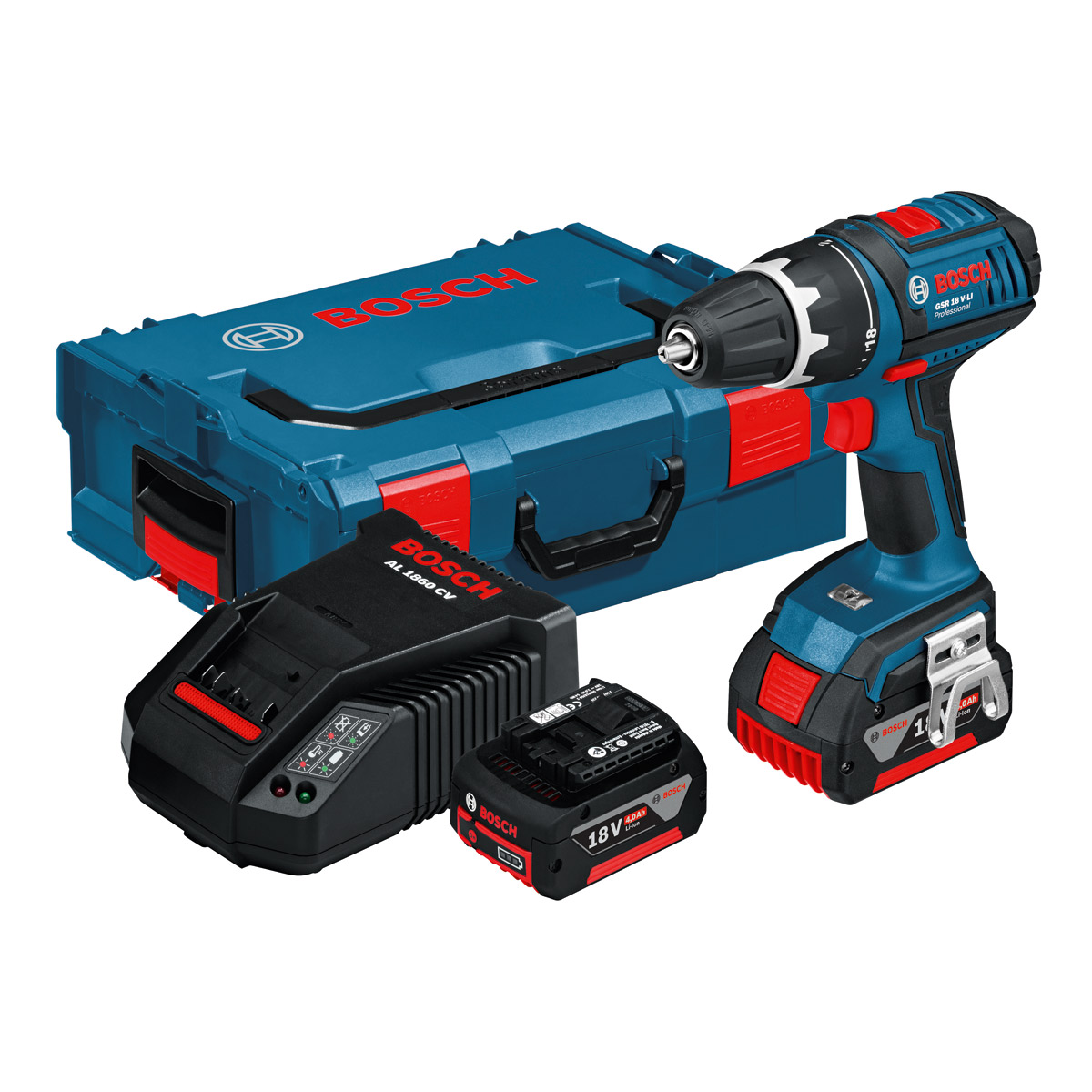 bosch gsr18v li 18v li ion cordless dynamicseries drill driver 2 x 4ah batteries l boxx. Black Bedroom Furniture Sets. Home Design Ideas