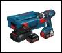 Bosch GSR18V-LI 18V li-ion Cordless DynamicSeries Drill Driver (2 x 4Ah Batteries) - L-Boxx
