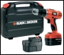Black & Decker EPC148BK 14.4V 2-Gear Hammer Drill  c/w 2 batteries