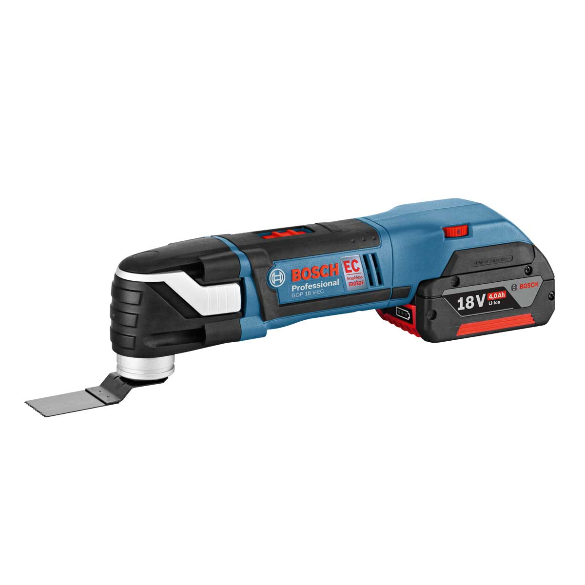 bosch gop18vec 18v cordless li ion brushless multi tool with 1 x 4 0 ah battery in l boxx 20. Black Bedroom Furniture Sets. Home Design Ideas