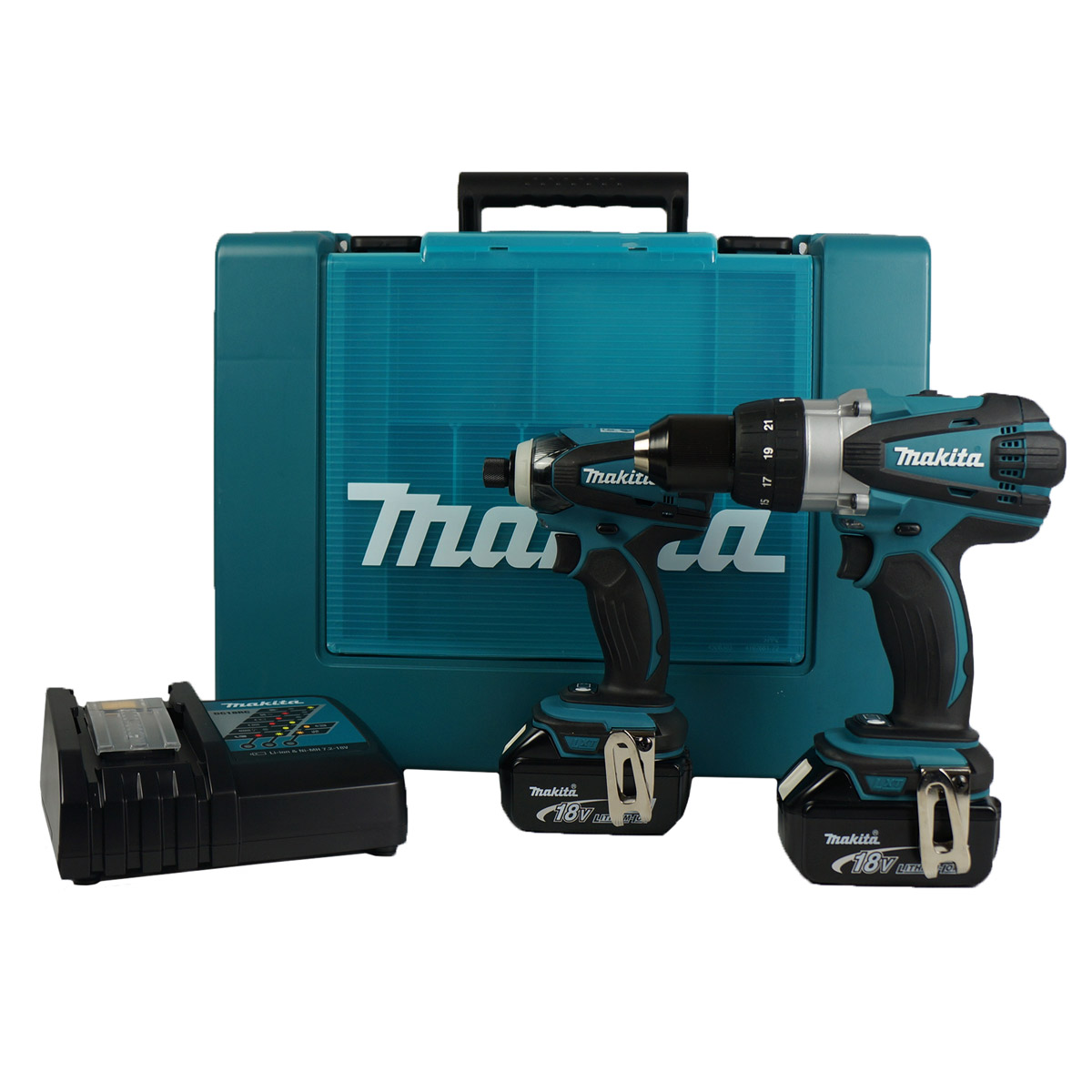 makita dlx2005m 18v cordless li ion 2 piece cordless kit 2 x 4ah batteries product. Black Bedroom Furniture Sets. Home Design Ideas