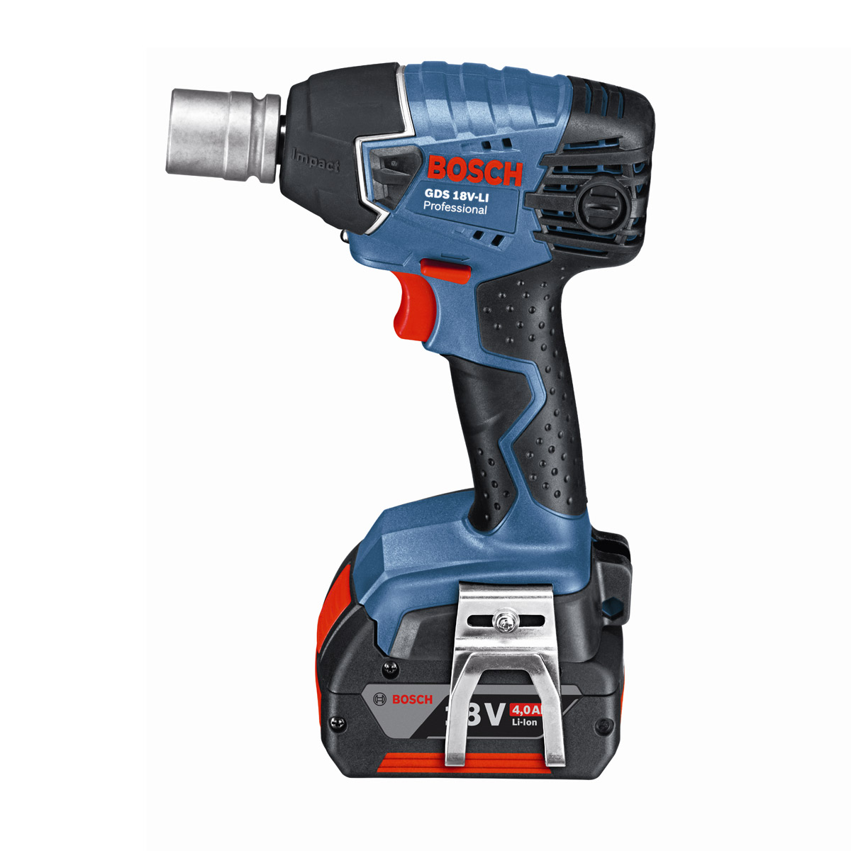 bosch gds18v li 18v li ion impact wrench 2 x 4ah batteries product. Black Bedroom Furniture Sets. Home Design Ideas
