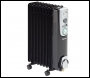 Clarke BR9/200 2kW 9 Fin Black Oil Filled Radiator