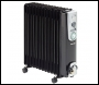 Clarke BR13 2.5kW 13 Fin Black Oil Filled Radiator