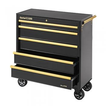 clarke cbb315bg extra large heavy duty 5 drawer mobile tool cabinet black gold product. Black Bedroom Furniture Sets. Home Design Ideas