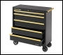 Clarke CBB315BG Extra Large Heavy Duty 5 Drawer Mobile Tool Cabinet (Black & Gold)