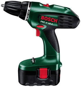 bosch green psr 18 2 2 battery 18 volt cordless 2 speed drill driver 10mm keyless chuck. Black Bedroom Furniture Sets. Home Design Ideas
