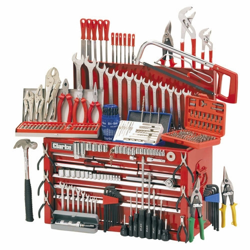 Clarke CHT634 Mechanics Tool Chest And Tools Package Product
