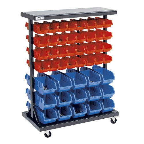 Clarke Csr94 Mobile Double Sided Storage Bin Rack 187 Product