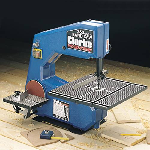Clarke cbs355 3 speed bandsaw with sanding disc product for 10 sanding disc for table saw
