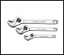 Clarke CHT104 3-Pce Adjustable Wrench Set