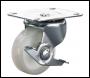 Clarke ML483-1W 100mm Swivel & Brake Castor - White Nylon