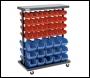 Clarke CSR94 Mobile Double Sided Storage Bin Rack