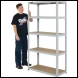 Clarke CSM5100LG 100kg Boltless shelving (Light Grey) - Code 6600732