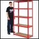 Clarke CSM5100RP 100kg Boltless Shelving (Red) - Code 6600736
