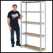 Clarke CSM5175/30LG Heavy Duty Boltless Shelving - Light Grey - Code 6600738