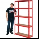 Clarke CSM5175/30RP Heavy Duty Boltless Shelving - Red - Code 6600742