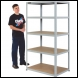 Clarke CSM5175/60LG Heavy Duty Boltless Shelving - Light Grey - Code 6600750