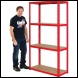 Clarke CSM4200/40LG Heavy Duty Boltless Shelving - Red - Code 6600760