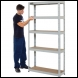 Clarke CSM5265/30LG Heavy Duty Boltless Shelving - Light Grey - Code 6600762
