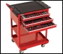 Clarke PRO395 182 Piece Tool Kit with 3 Drawer Service Cart
