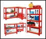 Clarke CSR5350RP Boltless Shelving Unit - 350Kg Red