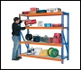Clarke CS4700OBO Industrial Racking With Laminate Board Shelves – 800kg Orange/Blue