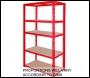 Clarke CSR5100RP Heavy Duty Boltless Shelving - 100KG (Red)