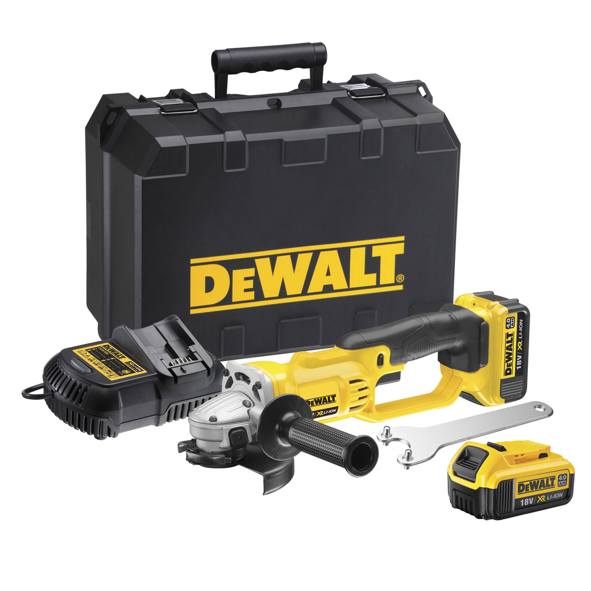dewalt dcg412m2 gb 18v xr li ion angle grinder 2 x 4ah. Black Bedroom Furniture Sets. Home Design Ideas