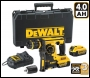 DEWALT DCH254M2 18V XR SDS Hammer 2 x 4.0Ah Batteries Charger & Kit Box With Quick Change Chuck