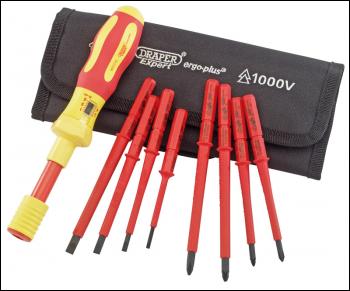 draper ergo plus interchangeable vde torque screwdriver set 9 piece code 65372 product. Black Bedroom Furniture Sets. Home Design Ideas