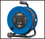 DRAPER 230V Four Socket Industrial Cable Reel (50M) - Pack Qty 1 - Code: 02120