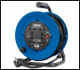DRAPER 230V Heavy Duty Industrial Four Socket Cable Reel (25M) - Pack Qty 1 - Code: 02122