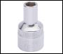 DRAPER 8mm 1/2 inch  Square Drive Elora Hexagon Socket - Pack Qty 1 - Code: 15297