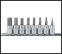 DRAPER 3/8 inch  Sq. Dr. Hexagonal Socket Bit Set (8 piece) - Pack Qty 1 - Code: 16285
