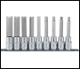 DRAPER 1/2 inch  Sq. Dr. 100mm Long Metric Hexagonal Socket Bit Set (9 Piece) - Pack Qty 1 - Code: 16308