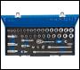 DRAPER 3/8 inch  Sq. Dr. Combined MM/AF Socket Set in Metal Case (40 piece) - Pack Qty 1 - Code: 16472