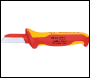 DRAPER Knipex 180mm Fully Insulated Cable Knife - Pack Qty 1 - Code: 18872