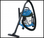 DRAPER 15L Wet and Dry Vacuum Cleaner with Stainless Steel Tank (1250W) - Pack Qty 1 - Code: 20514