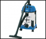 DRAPER 30L Wet and Dry Vacuum Cleaner with Stainless Steel Tank (1600W) - Pack Qty 1 - Code: 20523