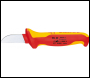 DRAPER Knipex 180mm Fully Insulated Cable Knife - Pack Qty 1 - Code: 21489