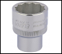 DRAPER 27mm 1/2 inch  Square Drive Elora Bi-Hexagon Socket - Code: 24723