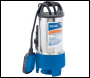 DRAPER 208L/Min Stainless Steel Submersible Dirty Water Pump with Float Switch (750W) - Pack Qty 1 - Code: 25360