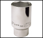 DRAPER Expert 38mm (1.1/2 inch Af) 1/2 inch  Square Drive Hub Nut Socket - Pack Qty 1 - Code: 26916