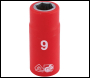 DRAPER 1/4 inch  Sq. Dr. Fully Insulated VDE Socket (9mm) - Pack Qty 1 - Code: 31469