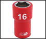 DRAPER 3/8 inch  Sq. Dr. Fully Insulated VDE Socket (16mm) - Pack Qty 1 - Code: 31714