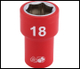 DRAPER 3/8 inch  Sq. Dr. Fully Insulated VDE Socket (18mm) - Pack Qty 1 - Code: 31724