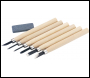 DRAPER Wood Carving Set with Sharpening Stone (7 Piece) - Pack Qty 1 - Code: 31777